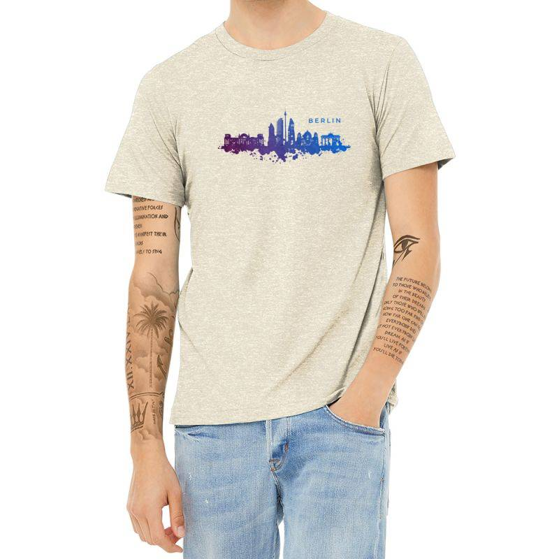 Berlin Watercolor Skyline Heather T-shirt | Artistshot