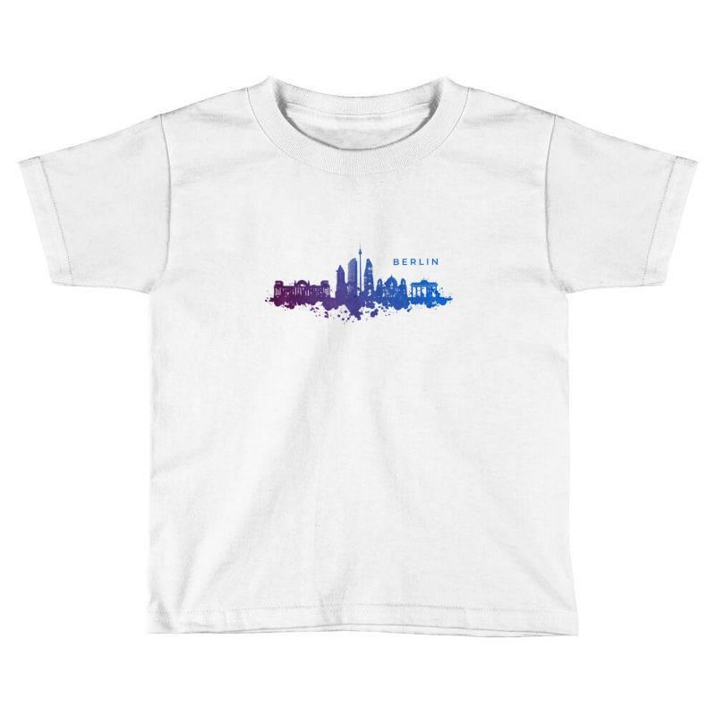 Berlin Watercolor Skyline Toddler T-shirt | Artistshot