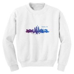 berlin watercolor skyline Youth Sweatshirt | Artistshot