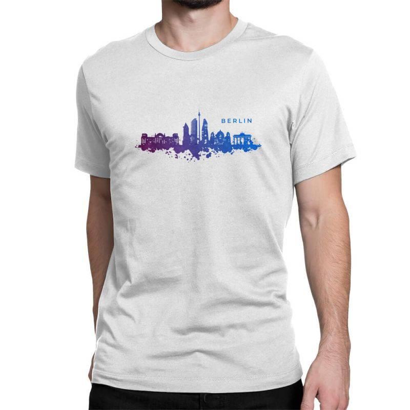 Berlin Watercolor Skyline Classic T-shirt | Artistshot