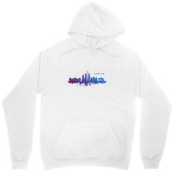 berlin watercolor skyline Unisex Hoodie | Artistshot