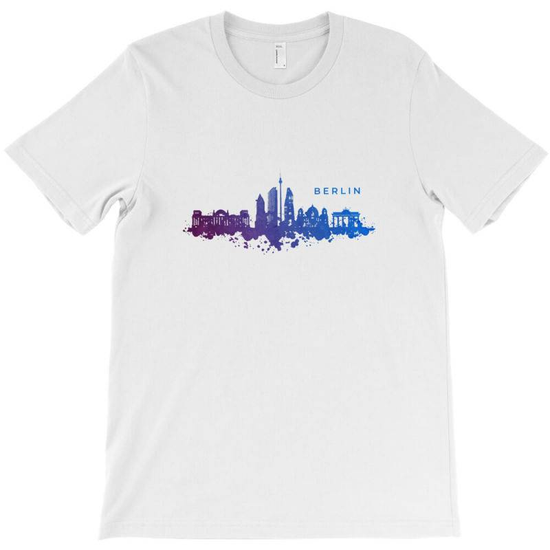 Berlin Watercolor Skyline T-shirt | Artistshot