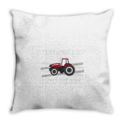 Case Ih Red Tractor Boy Comin' Through Throw Pillow Designed By Mdk Art