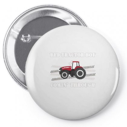 Case Ih Red Tractor Boy Comin' Through Pin-back Button Designed By Mdk Art