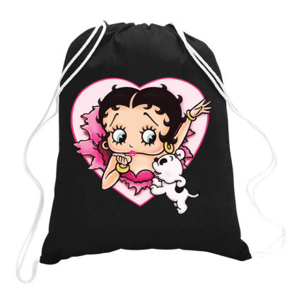 I Love Betty Drawstring Bags Designed By Green Giant
