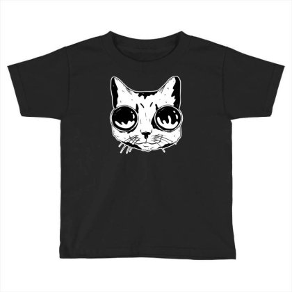 Cat With Goggles Toddler T-shirt Designed By Dirjaart