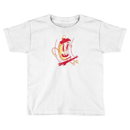 Character On Swing Toddler T-shirt Designed By Dirjaart