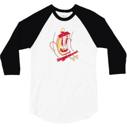 Character On Swing 3/4 Sleeve Shirt Designed By Dirjaart