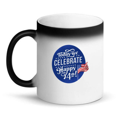 Celebrate July 4th Magic Mug Designed By Dirjaart