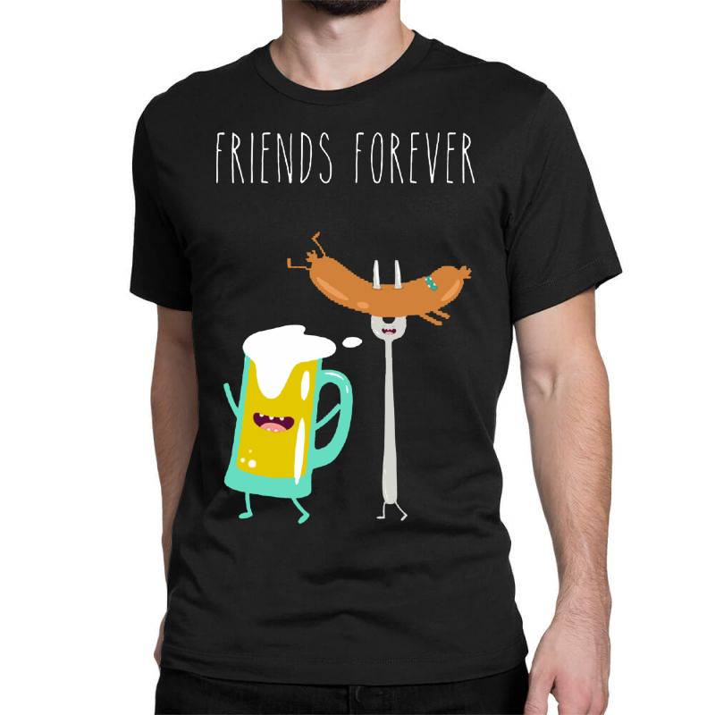 Funny Beer With Sausage Classic T-shirt | Artistshot
