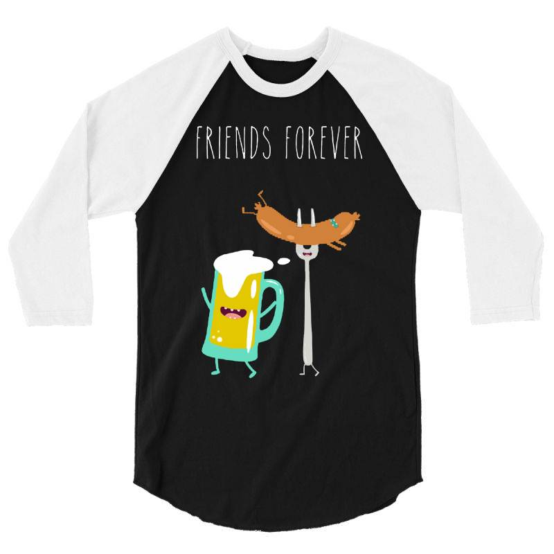 Funny Beer With Sausage 3/4 Sleeve Shirt | Artistshot