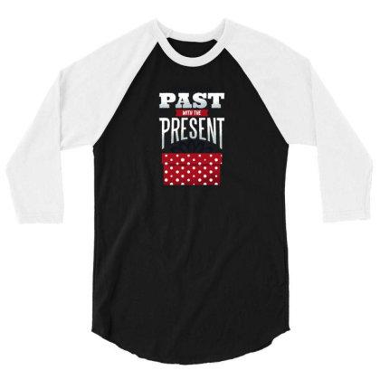 Christmas Present 3/4 Sleeve Shirt Designed By Dirjaart