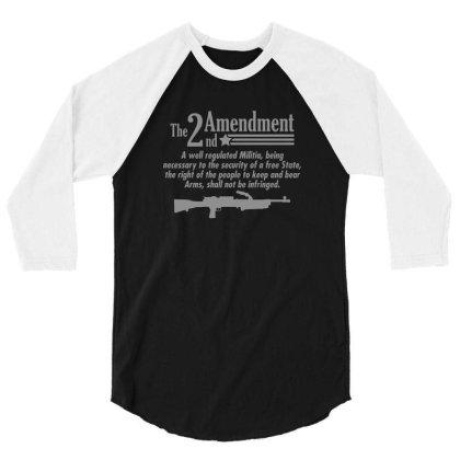 Amendment 3/4 Sleeve Shirt Designed By H3lm1