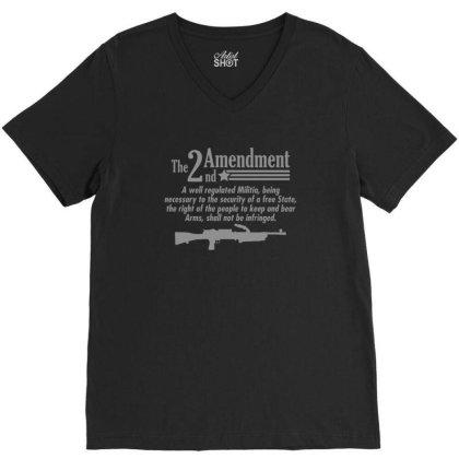 Amendment V-neck Tee Designed By H3lm1