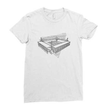 Cologne Stadium Ladies Fitted T-shirt Designed By Dirjaart
