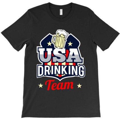 Usa Drinking Team T-shirt Designed By Green Giant