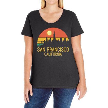 San Francisco California Ladies Curvy T-shirt Designed By Gurkan