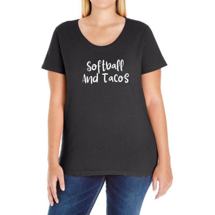 Softball And Tacos Ladies Curvy T-shirt Designed By Thebestisback