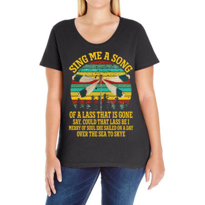 Dragonfly Sing Me A Song Of A Lass That Is Gone Ladies Curvy T-shirt Designed By Gurkan