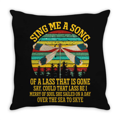 Dragonfly Sing Me A Song Of A Lass That Is Gone Throw Pillow Designed By Gurkan