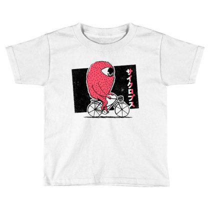 Cyclops Riding Bike Toddler T-shirt Designed By Dirjaart