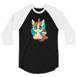cute xmas unicorn 3/4 Sleeve Shirt | Artistshot