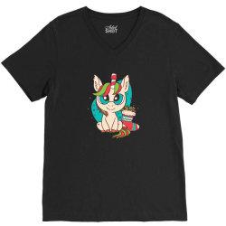 cute xmas unicorn V-Neck Tee | Artistshot