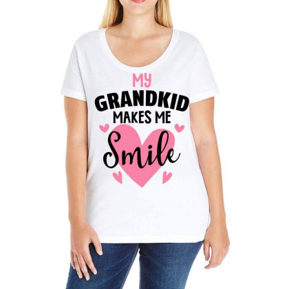 My Grandkıd Makes Me Smile For Light Ladies Curvy T-shirt Designed By Gurkan