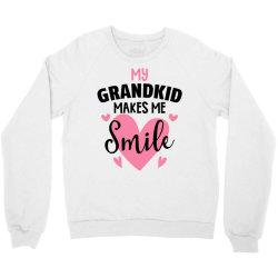 my grandkıd makes me smile for light Crewneck Sweatshirt   Artistshot