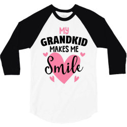 my grandkıd makes me smile for light 3/4 Sleeve Shirt   Artistshot