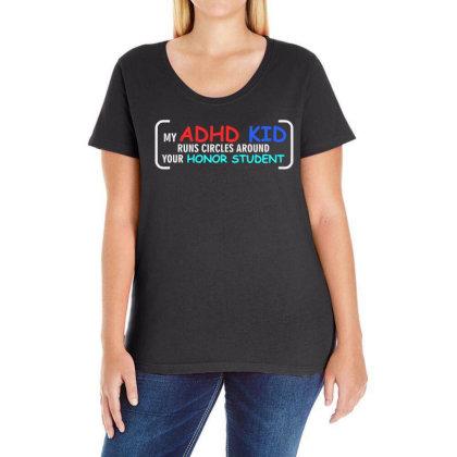 Kid Runs Circles Around Your Honor Student Ladies Curvy T-shirt Designed By Satrio Art