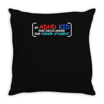 Kid Runs Circles Around Your Honor Student Throw Pillow Designed By Satrio Art
