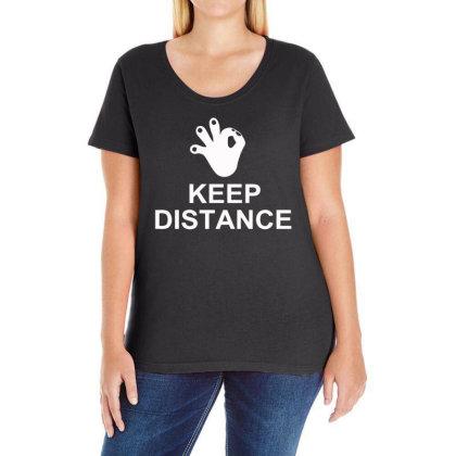 Keep The Distance Ladies Curvy T-shirt Designed By Satrio Art