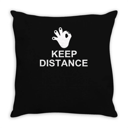 Keep The Distance Throw Pillow Designed By Satrio Art