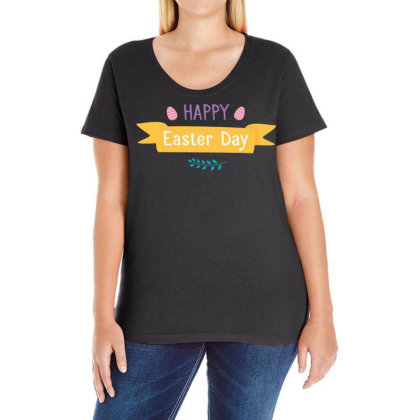 Easter Day Ladies Curvy T-shirt Designed By Estore