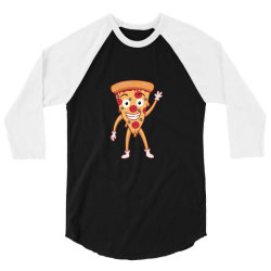 funny smiling cheesy pepperoni pizza 3/4 Sleeve Shirt | Artistshot