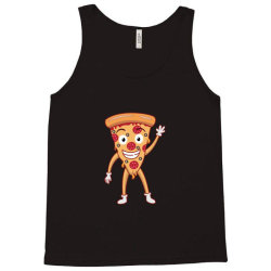 funny smiling cheesy pepperoni pizza Tank Top | Artistshot