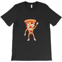 funny smiling cheesy pepperoni pizza T-Shirt | Artistshot