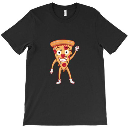 Funny Smiling Cheesy Pepperoni Pizza T-shirt Designed By Sr88