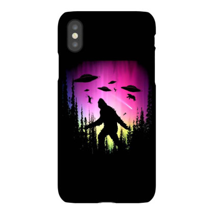 Bigfoot Ufos In Forest Iphonex Case Designed By Ricklers