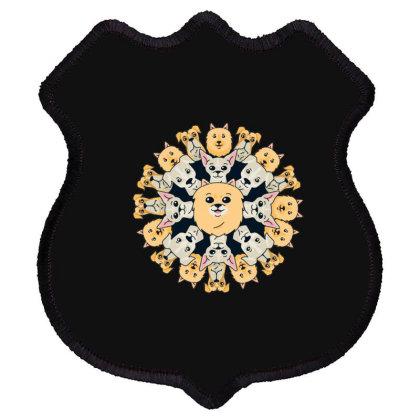 Dog Mandala Shield Patch Designed By Dirjaart