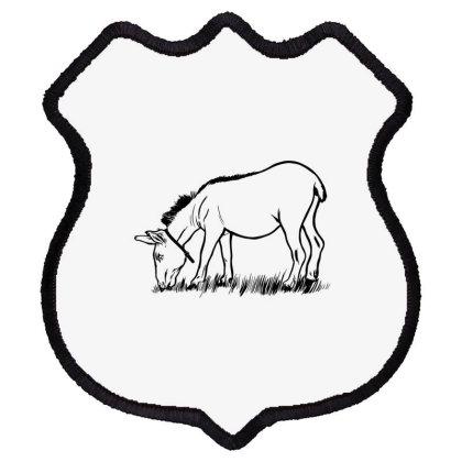 Donkey Eating Shield Patch Designed By Dirjaart