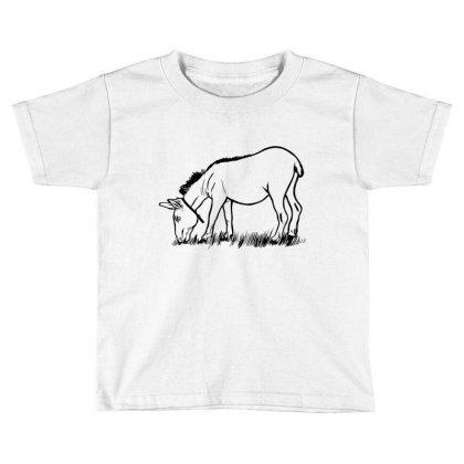 Donkey Eating Toddler T-shirt Designed By Dirjaart
