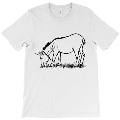 Donkey Eating T-shirt Designed By Dirjaart