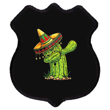 Dabbing Cactus Shield Patch Designed By Mrt90