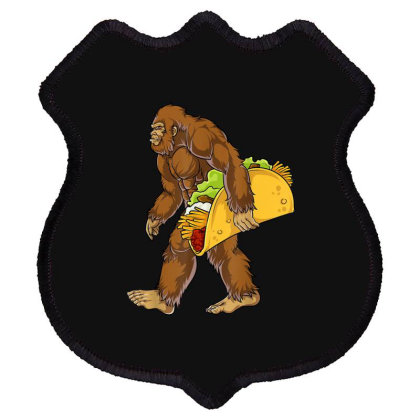 Bigfoot Carrying Taco Shield Patch Designed By Mrt90