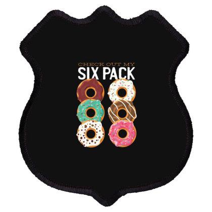 Donut Six Pack Shield Patch Designed By Dirjaart