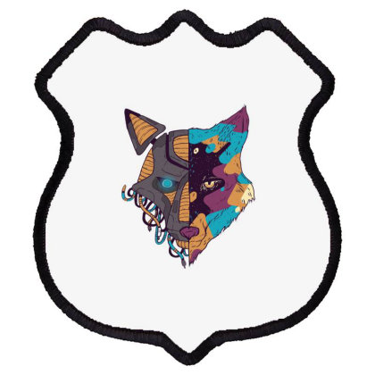 Double Faced Wolf Shield Patch Designed By Dirjaart