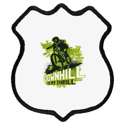 Downhill Biking Shield Patch Designed By Dirjaart