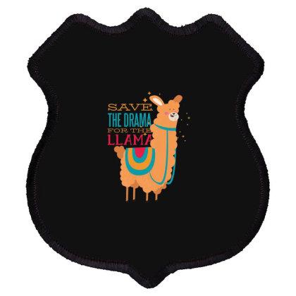Drama Llama Shield Patch Designed By Dirjaart